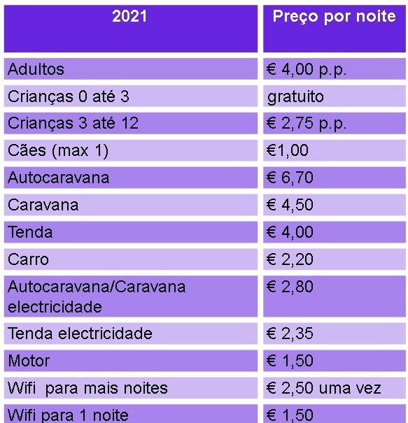 prijslijst normaal pt 2021
