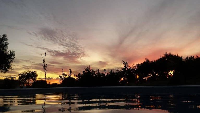 sunset swimmingpool