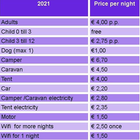 prijslijst normaal eng 2021
