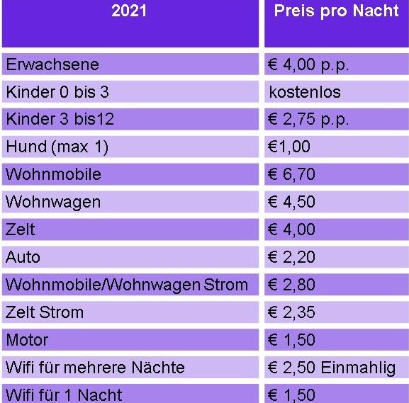 prijslijst normaal du 2021