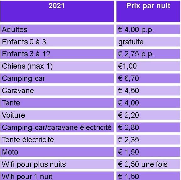 prijslijst normaal fr 2021